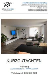 Kurzgutachten Beispiel Dominik Kassel Immobilienbewertung Karlsruhe